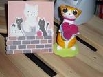 花束猫とメッセージカード